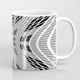 Starburst, black and white op art Coffee Mug