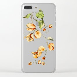 Orange Bougainvillea Illustration Clear iPhone Case