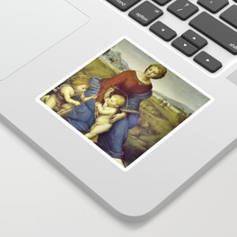 Madonna of the Meadows by Raphael Sticker