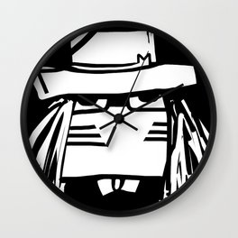 Dr M by Masato Jones Wall Clock