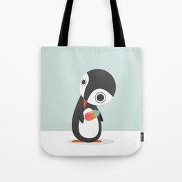Pingu Loves Icecream Tote Bag