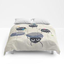 Spirited away - Susuwatari Creatures illustration - Miyazaki, Studio Ghibli Comforters