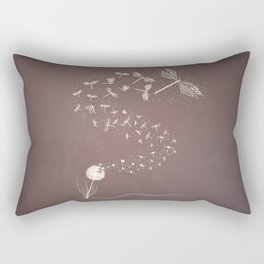 Dandelion's metamorphosis Rectangular Pillow