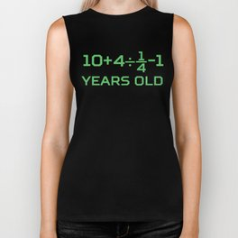 25 Years Old Math Equation Funny 25th Birthday Biker Tank