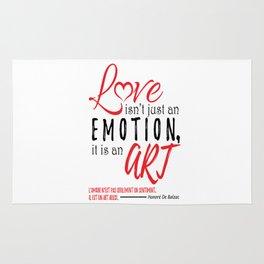 Love Isn't Just An Emotion, It Is An Art. Rug