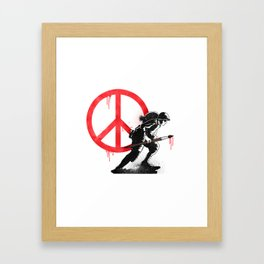 Art is a weapon! Framed Art Print