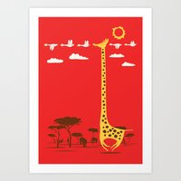 ilovedoodle Art Prints featuring I'm Like A Bird by I Love Doodle