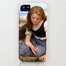 "William-Adolphe Bouguereau ""Le Crabe"" iPhone Case"