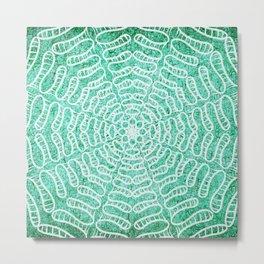 Cracked water mandala Metal Print