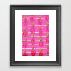 Pink Pineapples Framed Art Print