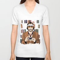 tenenbaum V-neck T-shirts featuring Richie Tenenbaum by The Art Warriors