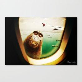 Monkey Surprise! Canvas Print