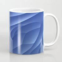 dune Mugs featuring Blue Dune by Lyle Hatch