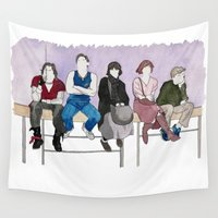 breakfast Wall Tapestries featuring The Breakfast Club by DJayK