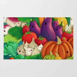 Nice People Eat Vegetables - background (Made with Danny Ivan) Rug
