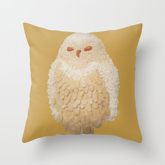 Owlmond 3 Throw Pillow