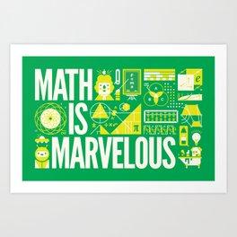 MATH IS ... Art Print