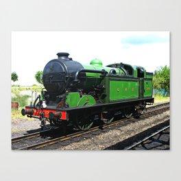 Vintage Steam railway engine Canvas Print