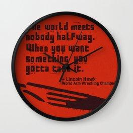The World Meets Nobody Halfway Wall Clock