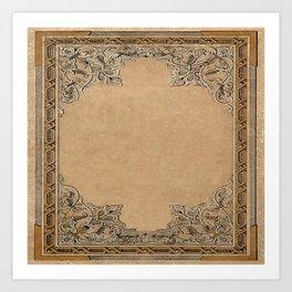 Old Knotwork Paper Art Print