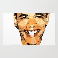 obama Area & Throw Rugs featuring ICONS: Obama by LeeandPeoples