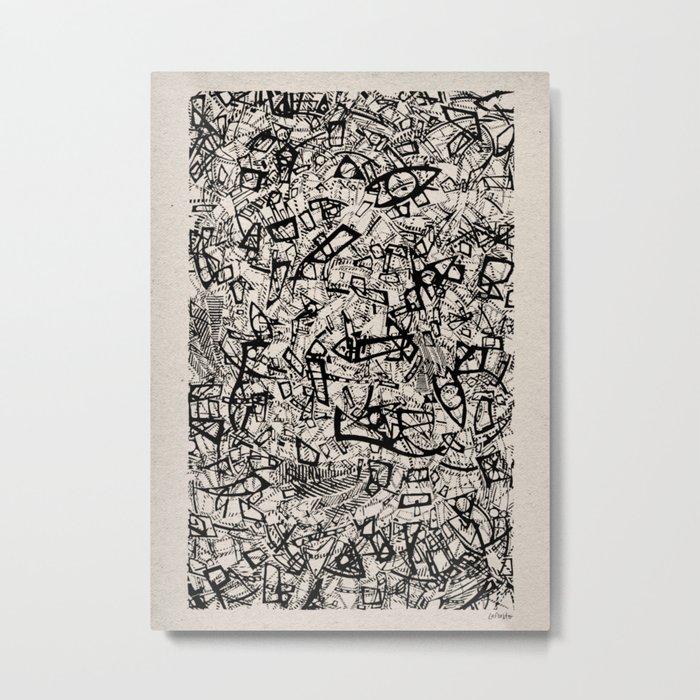 - newspaper - Metal Print