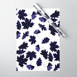 Indigo Blue Sun-Dyed Leaves Wrapping Paper