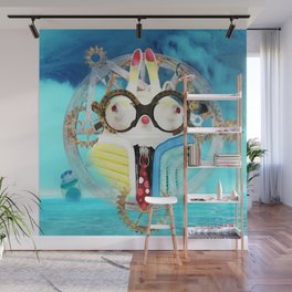 Time Bunny Voyage Wall Mural
