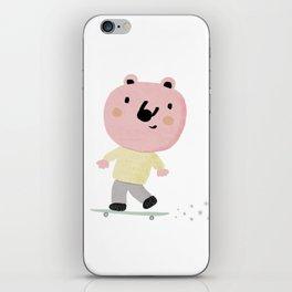 Bear Skater iPhone Skin