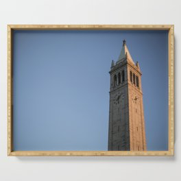 Campanile at Sunset in  UC Berkeley Serving Tray