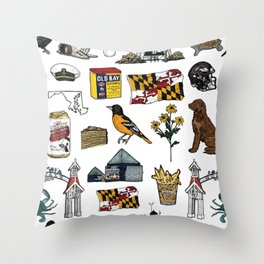 Maryland Pattern Throw Pillow