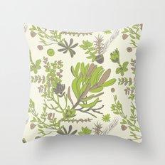 Cream Cradle Flora Throw Pillow