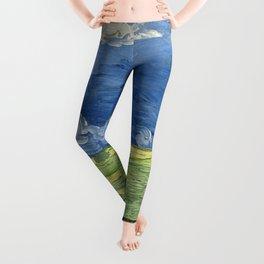 Vincent van Gogh - Wheatfield Under Thunderclouds Leggings