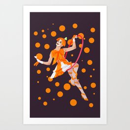 orange oddly Art Print