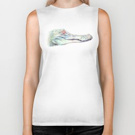 Albino Alligator Biker Tank