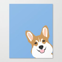Corgi Peek  cute dog welsh corgi gift unique pet customizable gifts for dog lovers Canvas Print