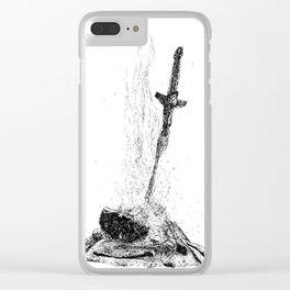 Bonefire Lit Clear iPhone Case