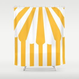 yellow tent Shower Curtain