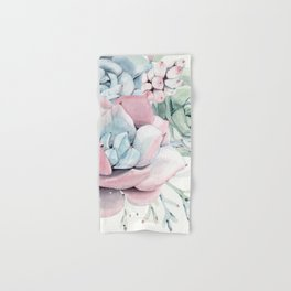 Garden of Succulents Hand & Bath Towel