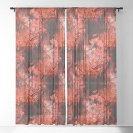 Red Sheer Curtain