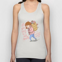 All you need is love and donuts Unisex Tank Top