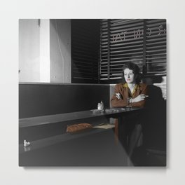 Lonely Lady Metal Print