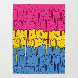 Pastel Kawaii Melting Pansexual Pride LGBTQ Design Poster