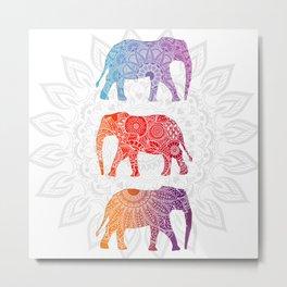 Elephantz Metal Print