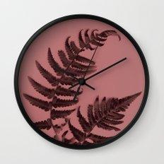 Fern on marsala Wall Clock