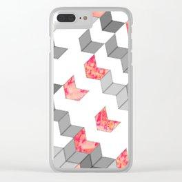 Elegant Minimalist Geometric Pattern Clear iPhone Case