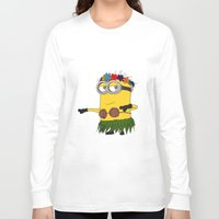 minion Long Sleeve T-shirts featuring Hawaii Minion  by The Big Duo