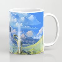 castle in the sky Mugs featuring Castle in the sky by Roberto Nieto
