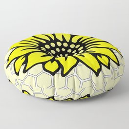 Save the Bees Design Four Floor Pillow