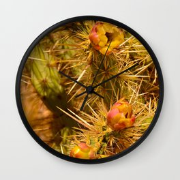Cacti in Bloom Wall Clock